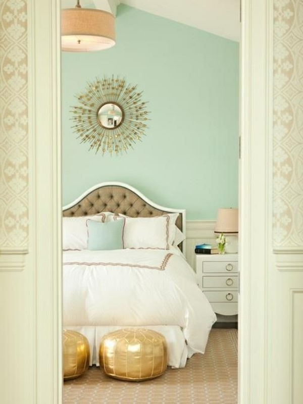 mint green wall paint for the bedroom