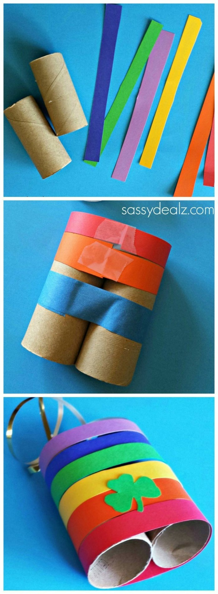 making autumn with children make autumn decoration yourself with paper rolls of binoculars