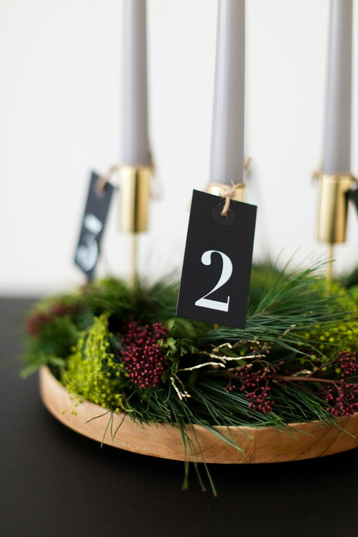 Wreath - wooden base and green deco