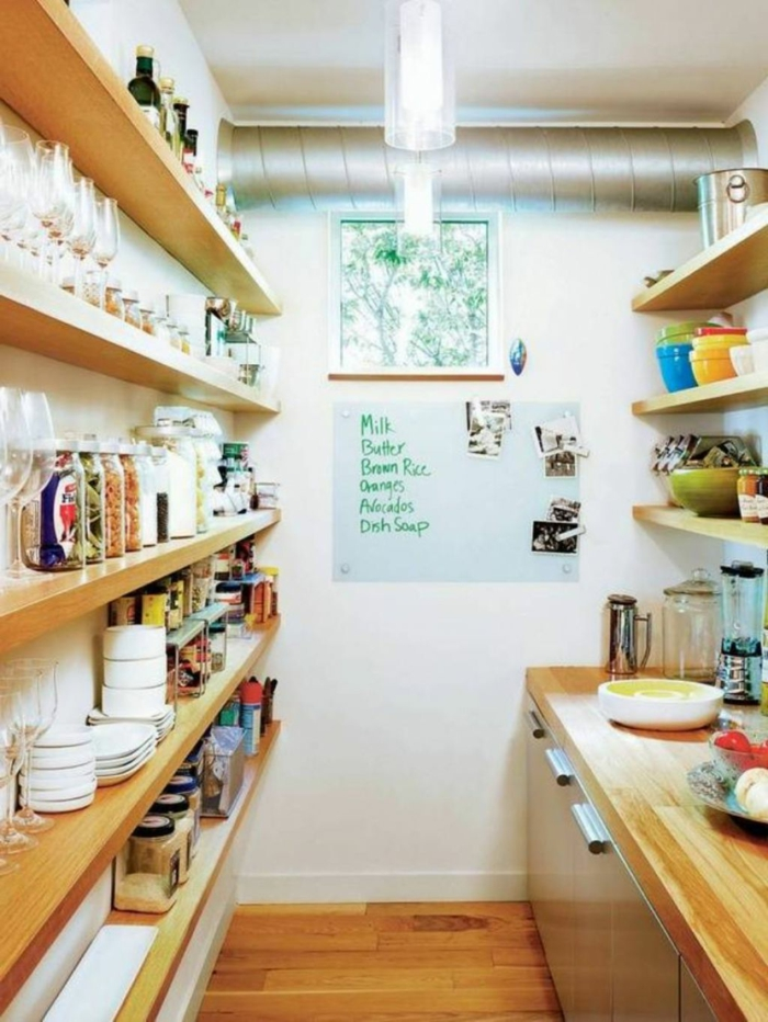 living ideas kitchen small room storage open shelves