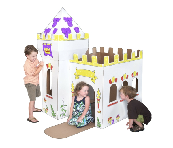 cardboard playhouse for children