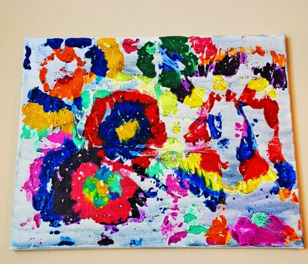 diy modern canvas prints stains colorful