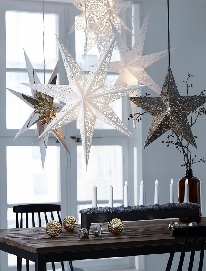 Christmas decorations in the Scandinavian style - 46 ideas ...