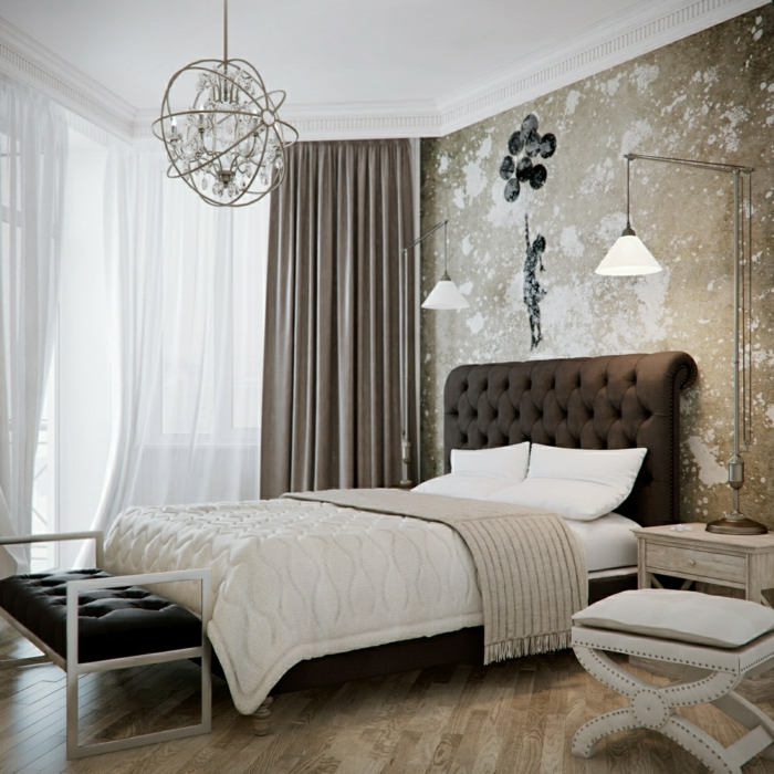 bedroom decorate wall wallpaper wall stickers candlestick