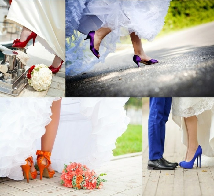 buy colorful bridal shoes online
