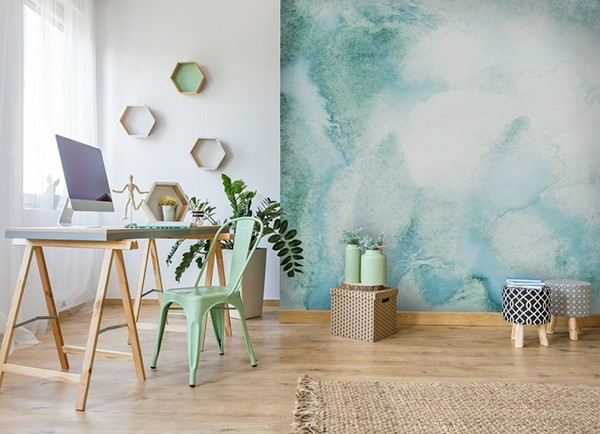 Wall color watercolor soft green