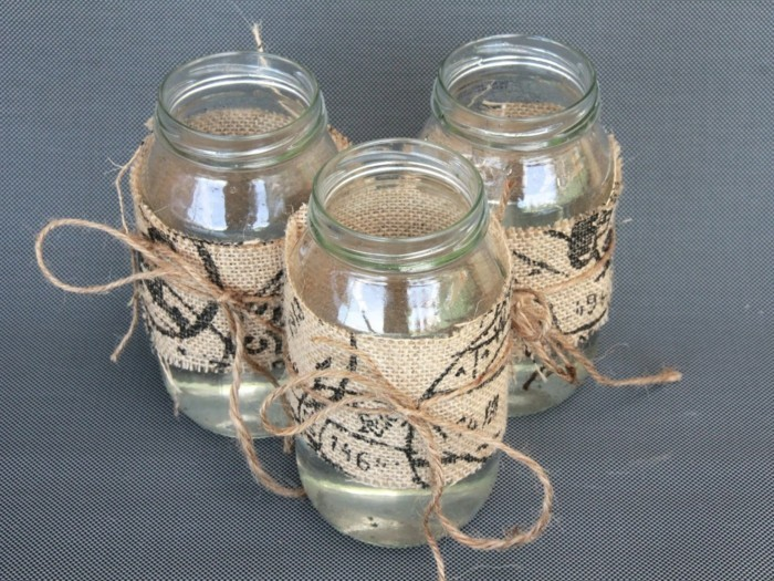 Ideas for the garden with canning glasses make beautiful wind lights