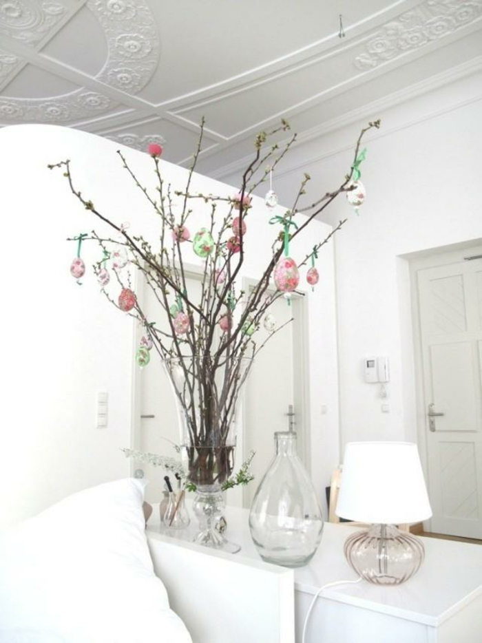 easter decoration easter eggs tree ideas white ambiente