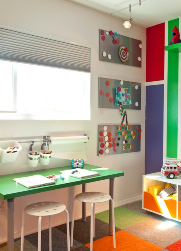 enchanting children's areas for learning desk stool pin board pencil window
