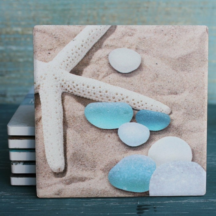 Coasters sand and stones