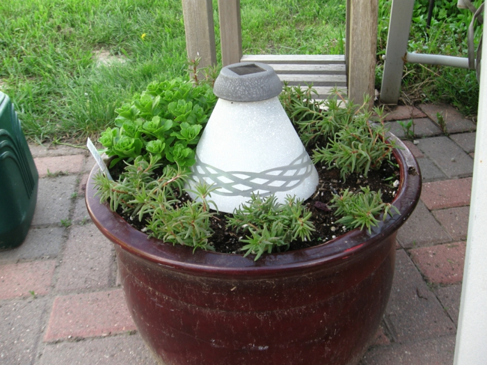 garden decoration ideas flower pot glass lampshade plant container