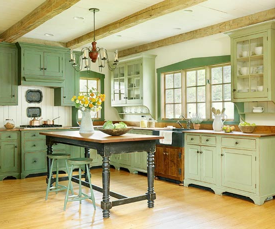 color ideas for kitchen green fresh dining table shades