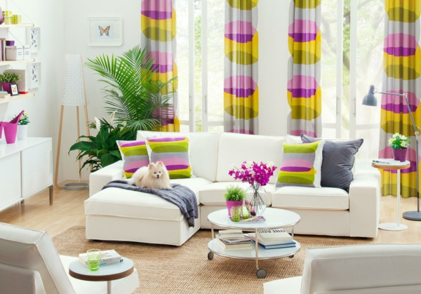 colorful curtains for the living room