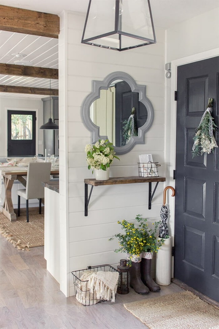 a mirror in the country style
