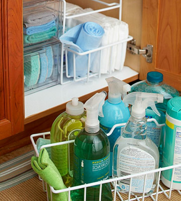 practical ideas Organization kitchen drawers cleaning products