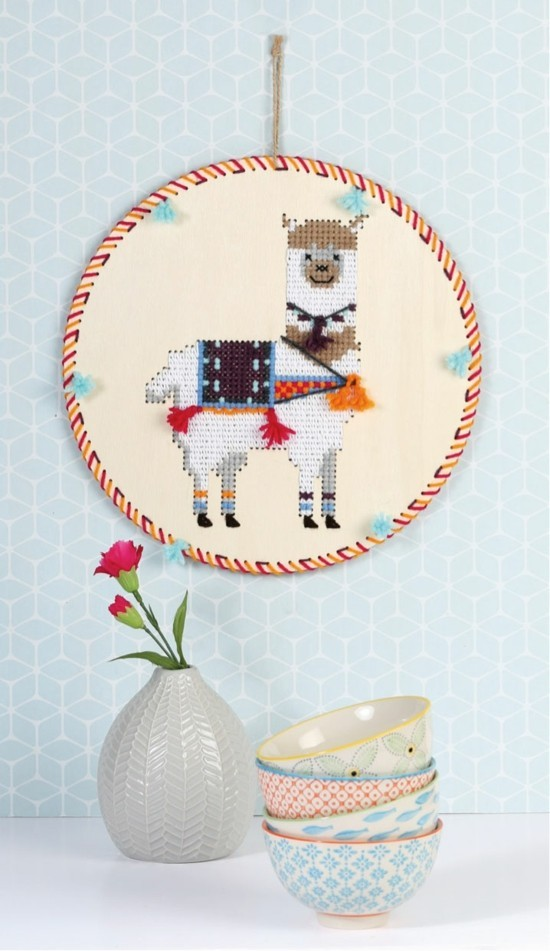 South American lama gobelin as a birthday decoration and gift idea