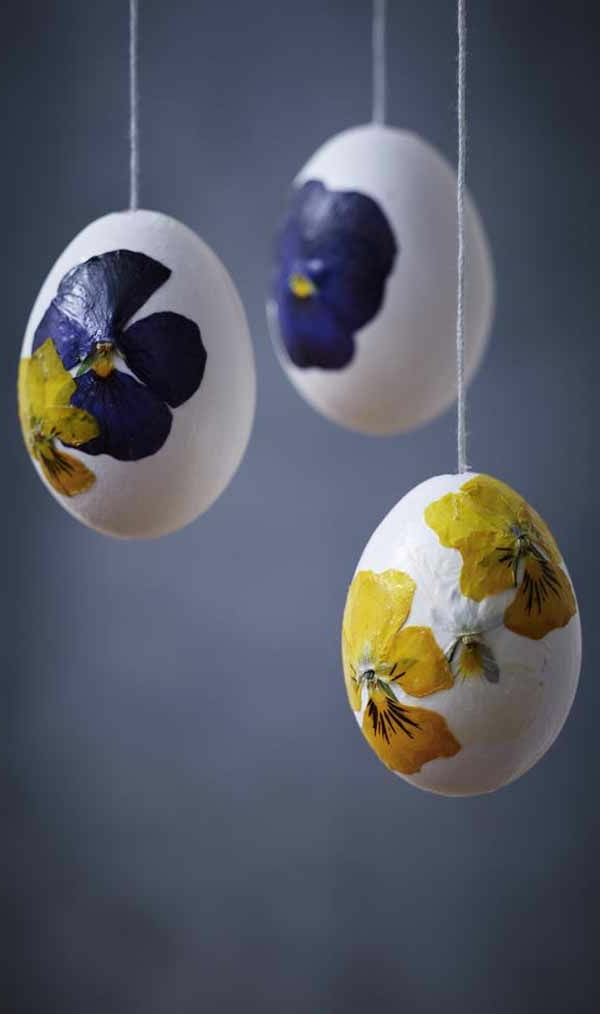 crafting easter beautiful hanging easter eggs flowers