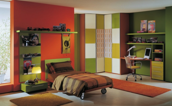 wall colors combinations nursery green orange