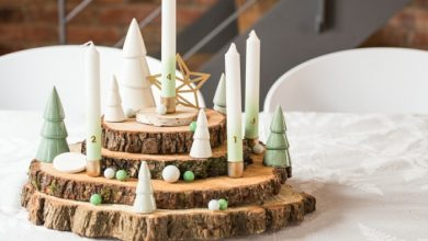 Photo of Near-natural Christmas decoration with a wooden Advent wreath
