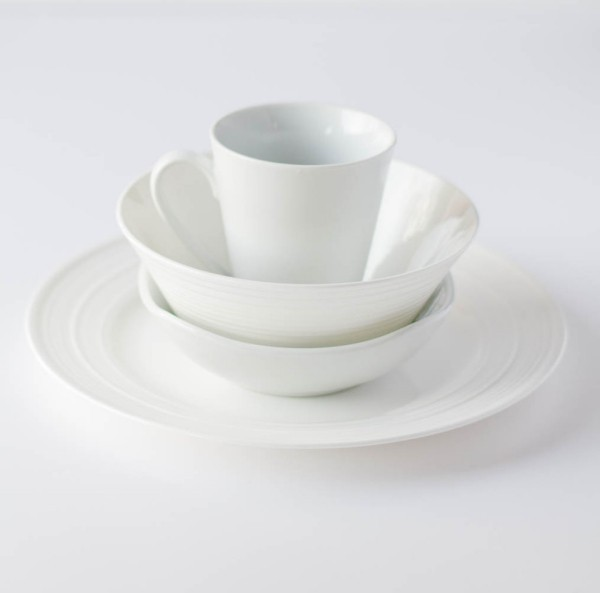 Etagerre made of white crockery homemade two