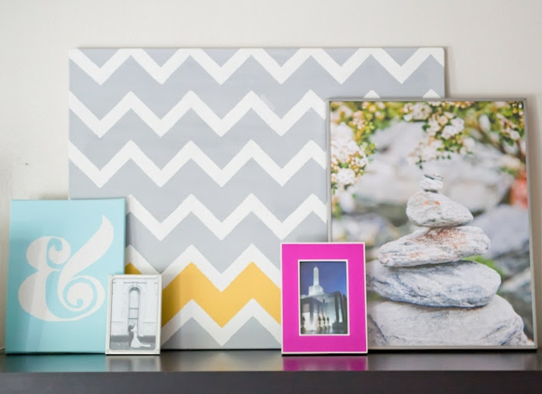 Create your own canvas pictures diy gray colors