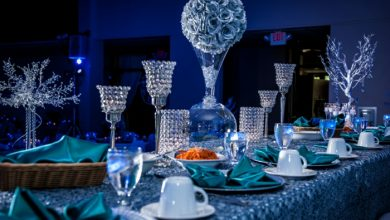 Photo of 42 impressive table decorations in blue