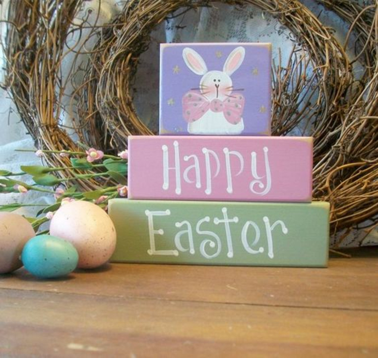 Easter wooden decoration Merry Easter Easter decoration
