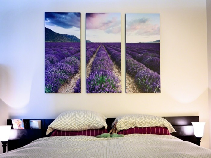 Bedroom pictures with lavender fields