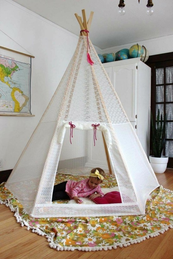 children's room ideas and tipi tent for girls