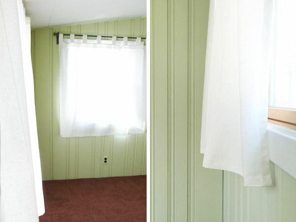 Paint plastic panels in green