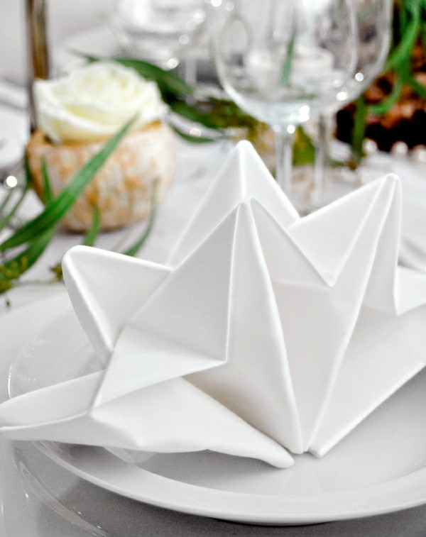 napkin folding technique origami technique