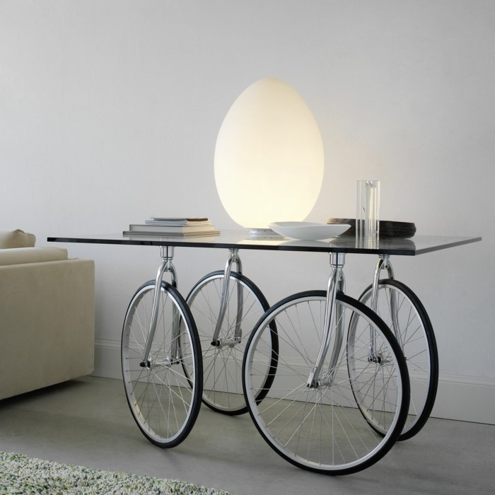 deco bike table for home