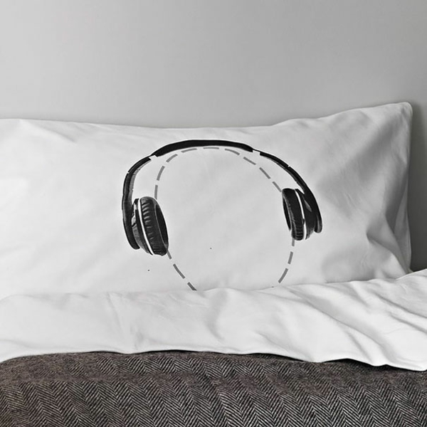Creative Throw Pillow headphones pillow