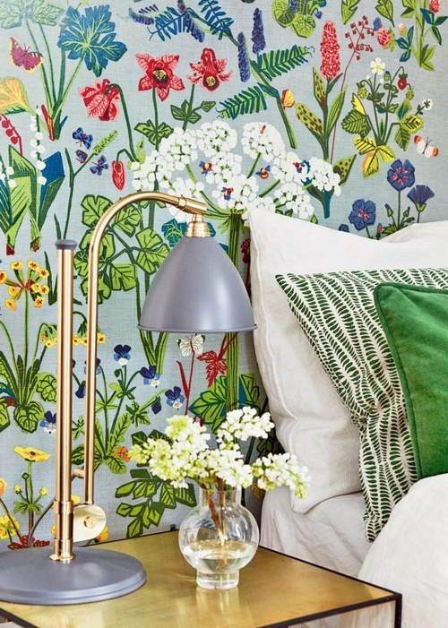 patterned wallpaper with colorful patterns