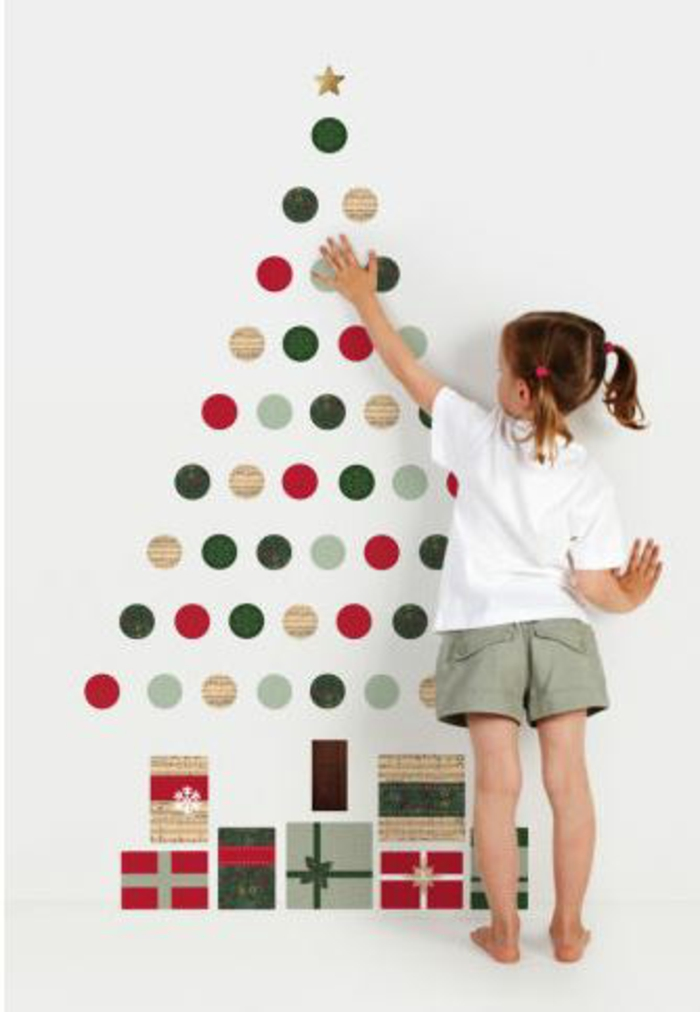 Christmas tree artificially artificial Christmas tree test by wall wall stickers