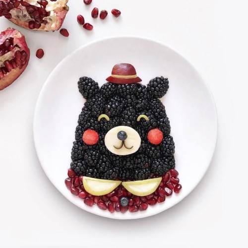 crafting bear from fruits