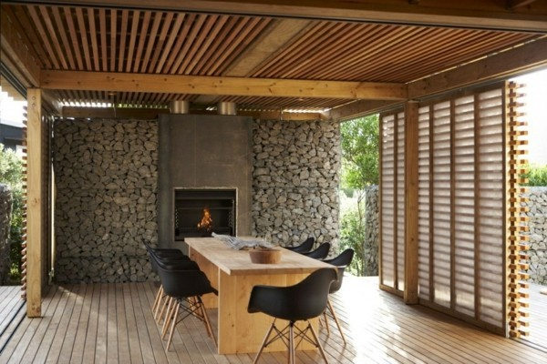 Ideas for the terrace roofing and wooden