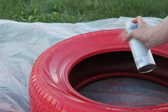 garden tips plant containers make car tires colored