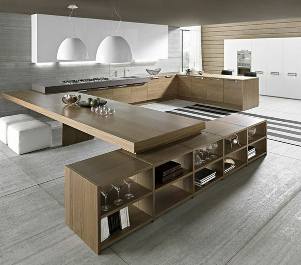 kitchen design large work surface