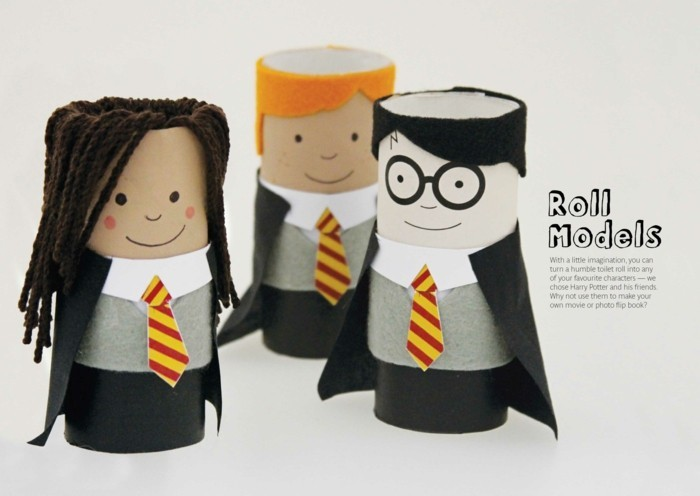 making autumn with children make autumn decoration yourself tinkering with paper rolls harry potter