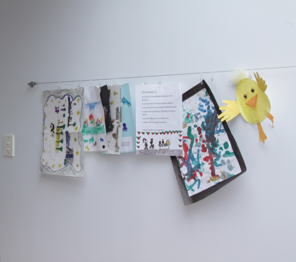 DIY decoration with children's drawings wall decoration ideas creative original