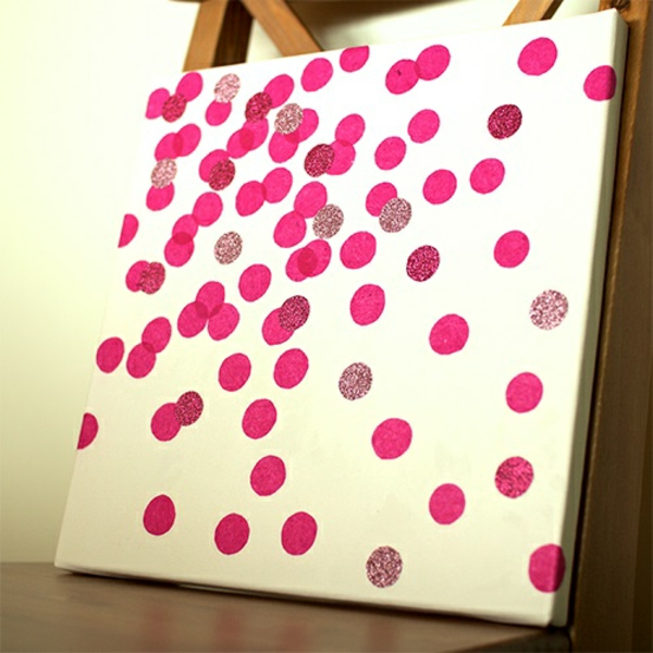 Canvas pictures score pink diy modern