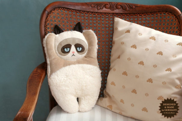 Creative decoration soft home textile and pillow clumpsy cat