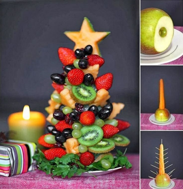 Christmas tree ornaments tropical style fruit tree