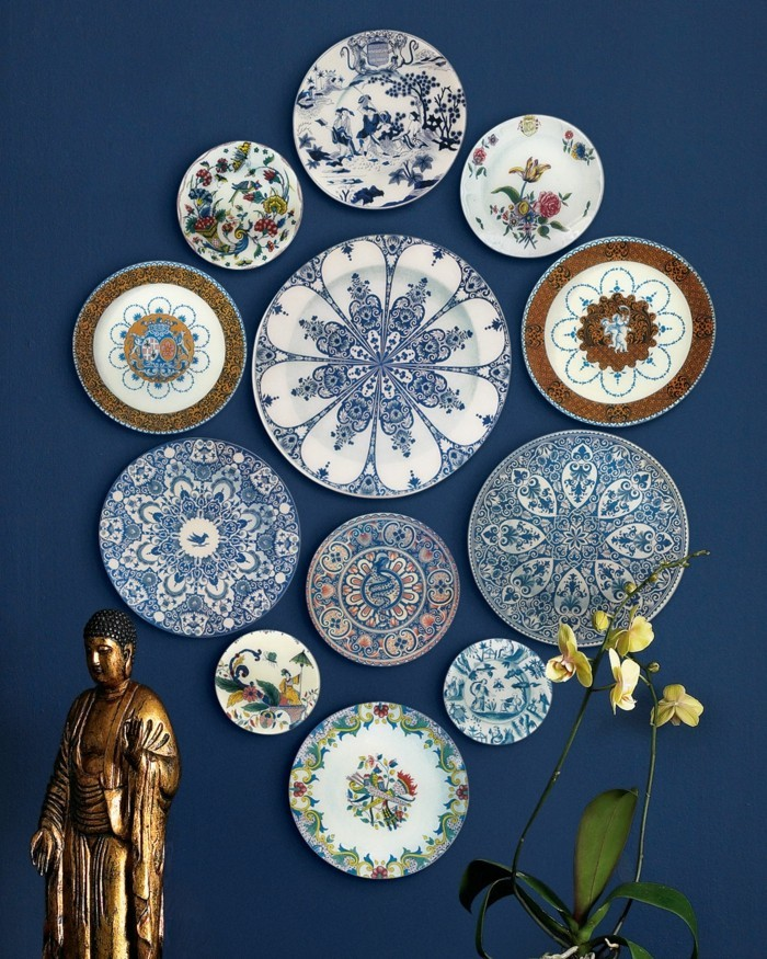 walls decorate plate blue wall