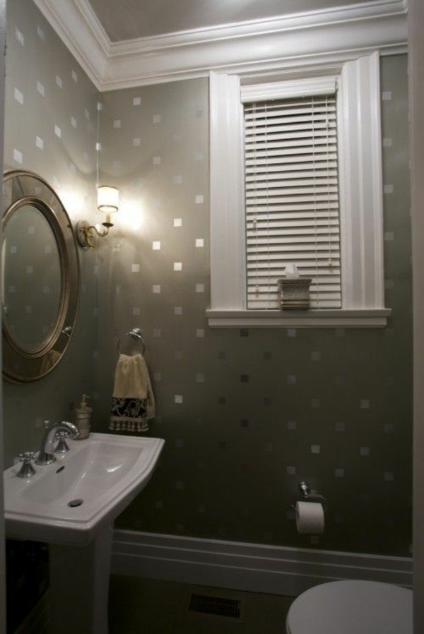 metallic wall paint with light