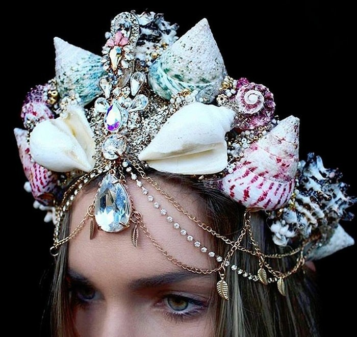 headdress juwele seashells snail shell pendant mermaid