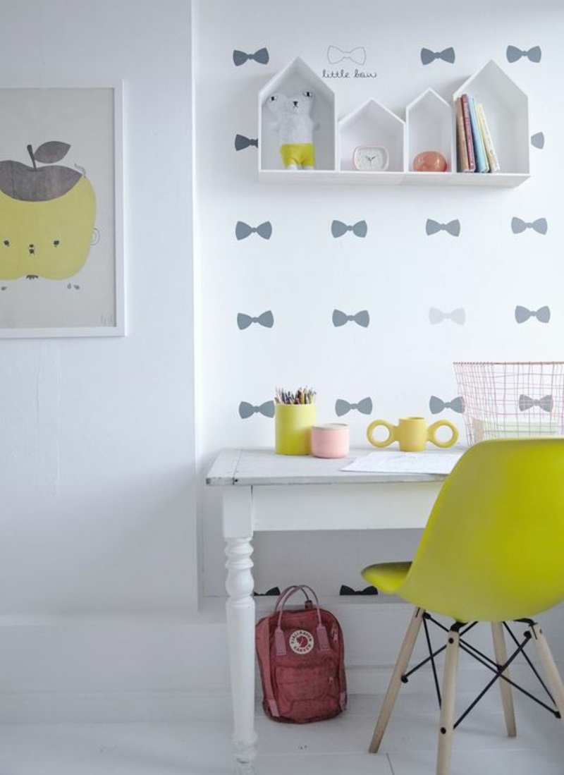 Pattern murals to make small bows wallpaper for kids room
