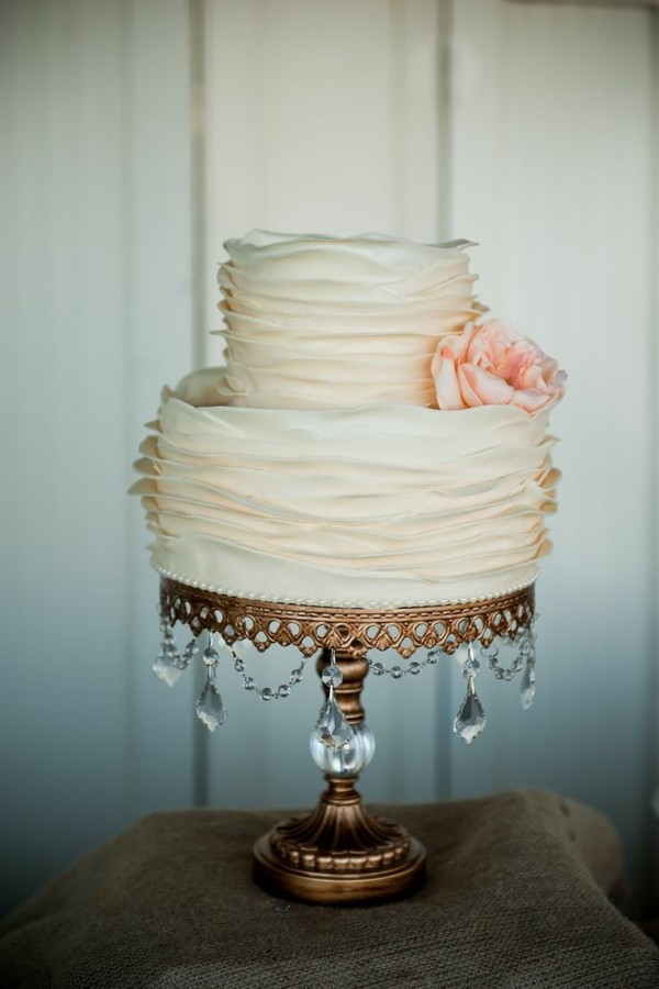 Homemade cake stand wedding gold