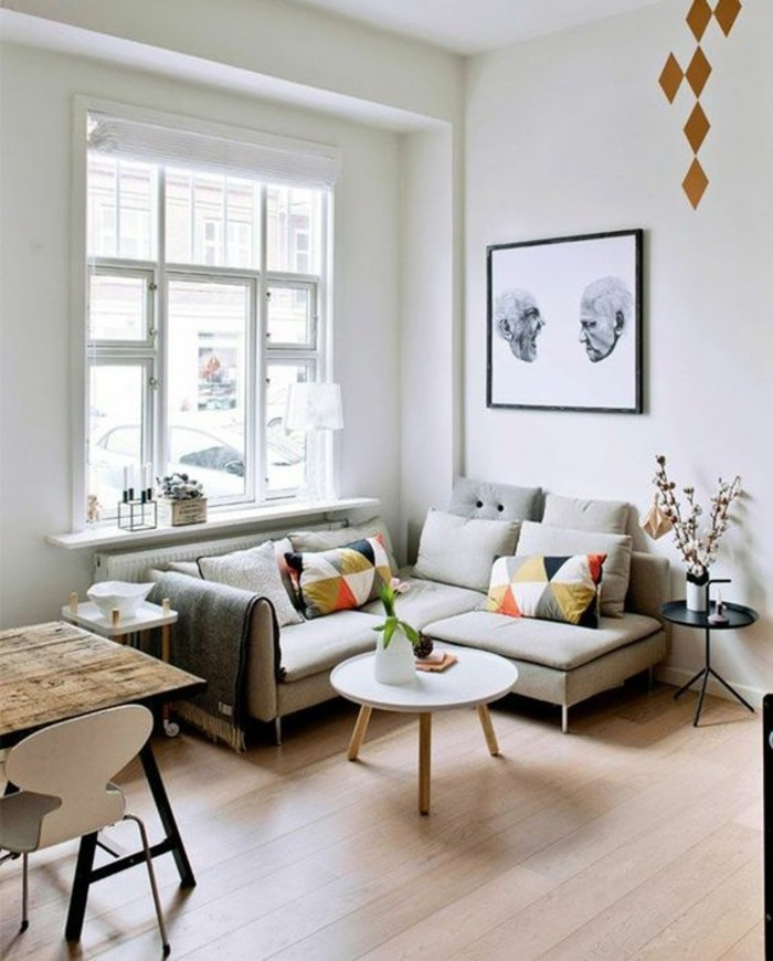 practically furnished small living room